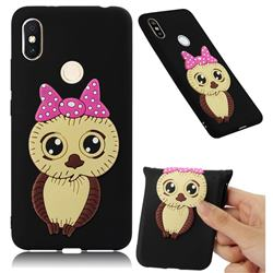 Bowknot Girl Owl Soft 3D Silicone Case for Mi Xiaomi Redmi S2 (Redmi Y2) - Black