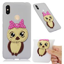 Bowknot Girl Owl Soft 3D Silicone Case for Mi Xiaomi Redmi S2 (Redmi Y2) - Translucent White