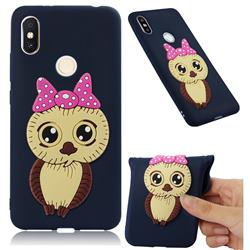 Bowknot Girl Owl Soft 3D Silicone Case for Mi Xiaomi Redmi S2 (Redmi Y2) - Navy