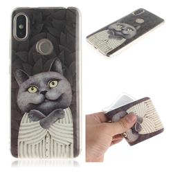 Cat Embrace IMD Soft TPU Cell Phone Back Cover for Mi Xiaomi Redmi S2 (Redmi Y2)