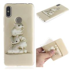 Three Squirrels IMD Soft TPU Cell Phone Back Cover for Mi Xiaomi Redmi S2 (Redmi Y2)