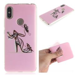 Butterfly High Heels IMD Soft TPU Cell Phone Back Cover for Mi Xiaomi Redmi S2 (Redmi Y2)