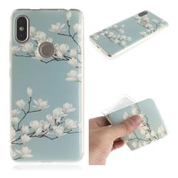 Magnolia Flower IMD Soft TPU Cell Phone Back Cover for Mi Xiaomi Redmi S2 (Redmi Y2)