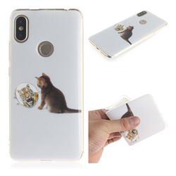 Cat and Tiger IMD Soft TPU Cell Phone Back Cover for Mi Xiaomi Redmi S2 (Redmi Y2)