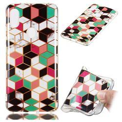Three-dimensional Square Soft TPU Marble Pattern Phone Case for Mi Xiaomi Redmi S2 (Redmi Y2)