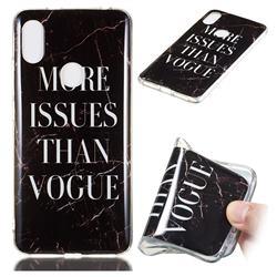 Stylish Black Soft TPU Marble Pattern Phone Case for Mi Xiaomi Redmi S2 (Redmi Y2)