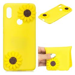 Yellow Sunflower Soft 3D Silicone Case for Mi Xiaomi Redmi S2 (Redmi Y2)