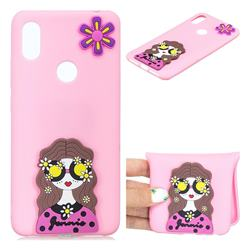 Violet Girl Soft 3D Silicone Case for Mi Xiaomi Redmi S2 (Redmi Y2)