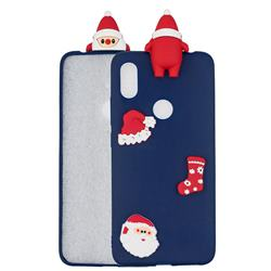 Navy Santa Claus Christmas Xmax Soft 3D Silicone Case for Mi Xiaomi Redmi S2 (Redmi Y2)