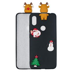 Black Elk Christmas Xmax Soft 3D Silicone Case for Mi Xiaomi Redmi S2 (Redmi Y2)