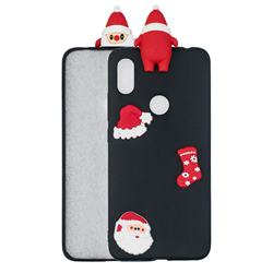 Black Santa Claus Christmas Xmax Soft 3D Silicone Case for Mi Xiaomi Redmi S2 (Redmi Y2)