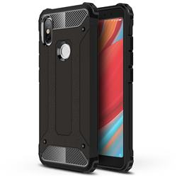 King Kong Armor Premium Shockproof Dual Layer Rugged Hard Cover for Mi Xiaomi Redmi S2 (Redmi Y2) - Black Gold