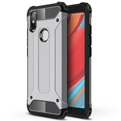 King Kong Armor Premium Shockproof Dual Layer Rugged Hard Cover for Mi Xiaomi Redmi S2 (Redmi Y2) - Silver Grey