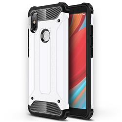 King Kong Armor Premium Shockproof Dual Layer Rugged Hard Cover for Mi Xiaomi Redmi S2 (Redmi Y2) - White