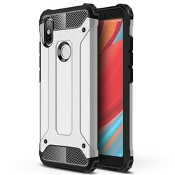 King Kong Armor Premium Shockproof Dual Layer Rugged Hard Cover for Mi Xiaomi Redmi S2 (Redmi Y2) - Technology Silver