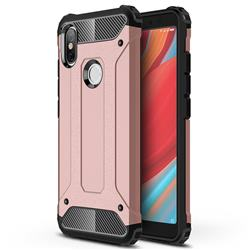 King Kong Armor Premium Shockproof Dual Layer Rugged Hard Cover for Mi Xiaomi Redmi S2 (Redmi Y2) - Rose Gold