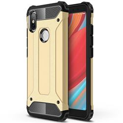 King Kong Armor Premium Shockproof Dual Layer Rugged Hard Cover for Mi Xiaomi Redmi S2 (Redmi Y2) - Champagne Gold