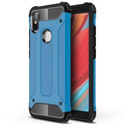 King Kong Armor Premium Shockproof Dual Layer Rugged Hard Cover for Mi Xiaomi Redmi S2 (Redmi Y2) - Sky Blue