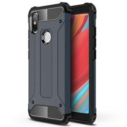 King Kong Armor Premium Shockproof Dual Layer Rugged Hard Cover for Mi Xiaomi Redmi S2 (Redmi Y2) - Navy