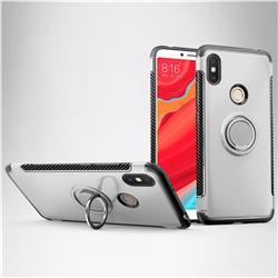 Armor Anti Drop Carbon PC + Silicon Invisible Ring Holder Phone Case for Mi Xiaomi Redmi S2 (Redmi Y2) - Silver