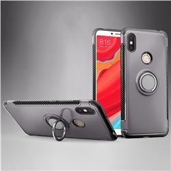 Armor Anti Drop Carbon PC + Silicon Invisible Ring Holder Phone Case for Mi Xiaomi Redmi S2 (Redmi Y2) - Grey