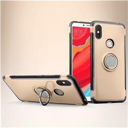 Armor Anti Drop Carbon PC + Silicon Invisible Ring Holder Phone Case for Mi Xiaomi Redmi S2 (Redmi Y2) - Champagne