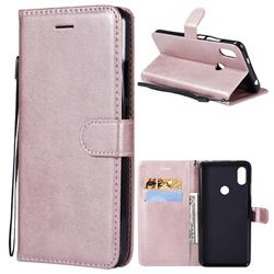 Retro Greek Classic Smooth PU Leather Wallet Phone Case for Mi Xiaomi Redmi S2 (Redmi Y2) - Rose Gold
