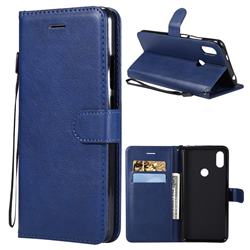 Retro Greek Classic Smooth PU Leather Wallet Phone Case for Mi Xiaomi Redmi S2 (Redmi Y2) - Blue