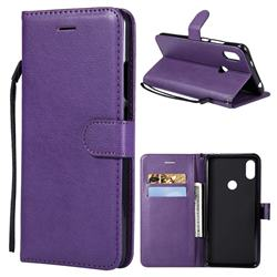 Retro Greek Classic Smooth PU Leather Wallet Phone Case for Mi Xiaomi Redmi S2 (Redmi Y2) - Purple