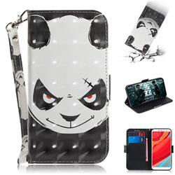 Angry Bear 3D Painted Leather Wallet Phone Case for Mi Xiaomi Redmi S2 (Redmi Y2)
