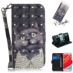 Cat Embrace 3D Painted Leather Wallet Phone Case for Mi Xiaomi Redmi S2 (Redmi Y2)