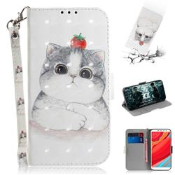 Cute Tomato Cat 3D Painted Leather Wallet Phone Case for Mi Xiaomi Redmi S2 (Redmi Y2)