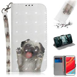 Pug Dog 3D Painted Leather Wallet Phone Case for Mi Xiaomi Redmi S2 (Redmi Y2)