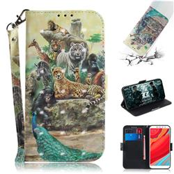 Beast Zoo 3D Painted Leather Wallet Phone Case for Mi Xiaomi Redmi S2 (Redmi Y2)