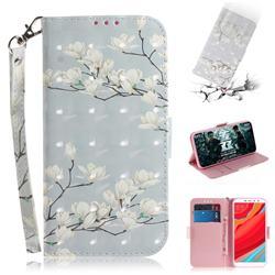 Magnolia Flower 3D Painted Leather Wallet Phone Case for Mi Xiaomi Redmi S2 (Redmi Y2)