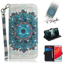 Peacock Mandala 3D Painted Leather Wallet Phone Case for Mi Xiaomi Redmi S2 (Redmi Y2)