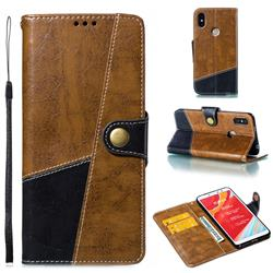 Retro Magnetic Stitching Wallet Flip Cover for Mi Xiaomi Redmi S2 (Redmi Y2) - Brown