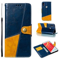 Retro Magnetic Stitching Wallet Flip Cover for Mi Xiaomi Redmi S2 (Redmi Y2) - Blue