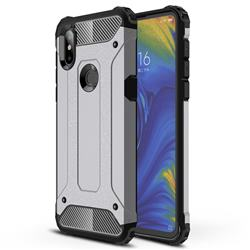 King Kong Armor Premium Shockproof Dual Layer Rugged Hard Cover for Xiaomi Mi Mix 3 - Silver Grey