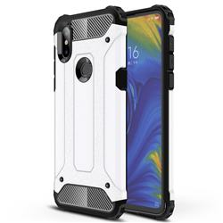 King Kong Armor Premium Shockproof Dual Layer Rugged Hard Cover for Xiaomi Mi Mix 3 - White