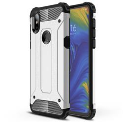 King Kong Armor Premium Shockproof Dual Layer Rugged Hard Cover for Xiaomi Mi Mix 3 - Technology Silver