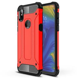 King Kong Armor Premium Shockproof Dual Layer Rugged Hard Cover for Xiaomi Mi Mix 3 - Big Red