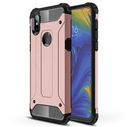 King Kong Armor Premium Shockproof Dual Layer Rugged Hard Cover for Xiaomi Mi Mix 3 - Rose Gold