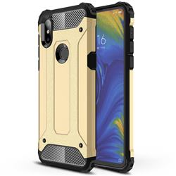 King Kong Armor Premium Shockproof Dual Layer Rugged Hard Cover for Xiaomi Mi Mix 3 - Champagne Gold