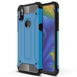 King Kong Armor Premium Shockproof Dual Layer Rugged Hard Cover for Xiaomi Mi Mix 3 - Sky Blue