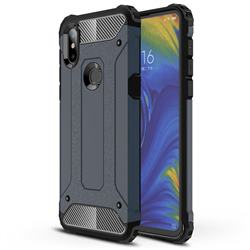King Kong Armor Premium Shockproof Dual Layer Rugged Hard Cover for Xiaomi Mi Mix 3 - Navy