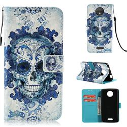 Cloud Kito 3D Painted Leather Wallet Case for Motorola Moto C