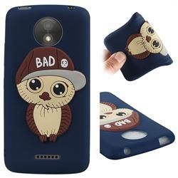 Bad Boy Owl Soft 3D Silicone Case for Motorola Moto C Plus - Navy