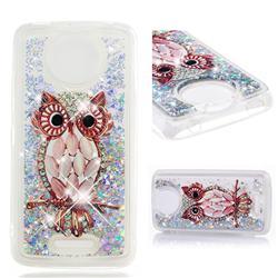 Seashell Owl Dynamic Liquid Glitter Quicksand Soft TPU Case for Motorola Moto C Plus