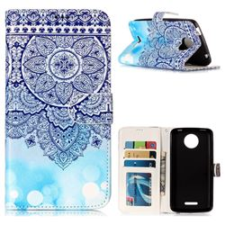 Totem Flower 3D Relief Oil PU Leather Wallet Case for Motorola Moto C Plus